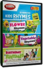 3D Kids Rhymes (Flower, Veg., Birthday)