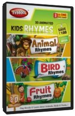 3D Kids Rhymes (Animal, Bird & Fruit) Combo