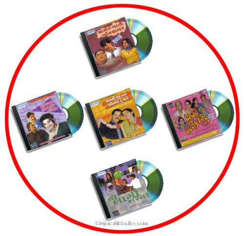 5 Gujarati comeday Gujarati natak(Play)VCDs set